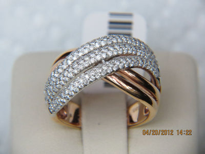 14K Rose Gold Ladies Diamond Ring