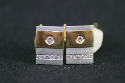 Men's Diamond Cufflinks