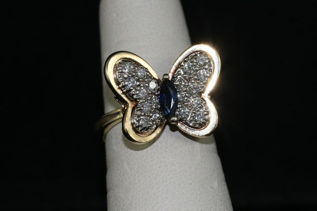14K Gold Butterfly Ring