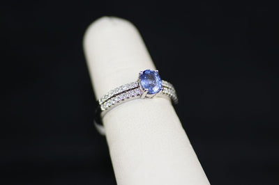 Tanzanite Center Stone Ring with Diamonds