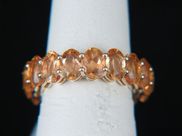 14K Yellow Gold Imperial Topaz Eternity Ring