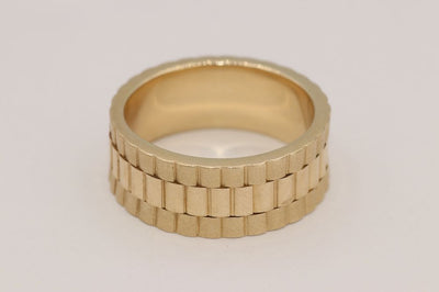 14K Yellow Gold Rolex Wedding Band