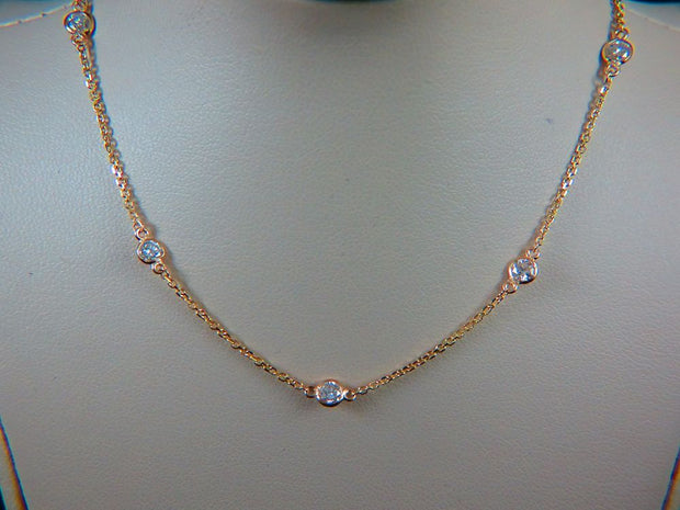 14K Gold Diamond By The Yard Necklace
