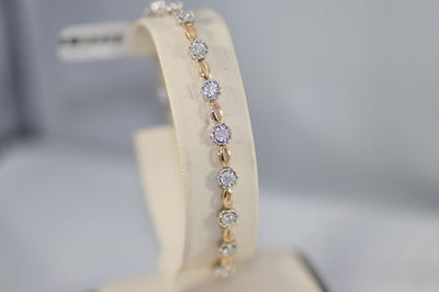 14K Total Gold Diamond Bracelet