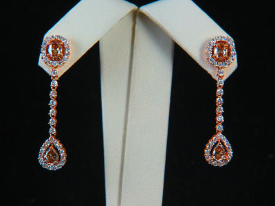 18K Rose Gold Diamond Earrings