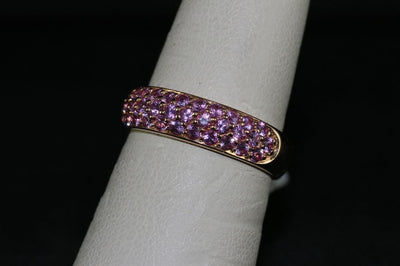 18K Rose Gold Pink Sapphire Ring