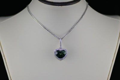 18K White Gold Tourmaline Pendant