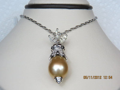 Diamond and Pearl Pendant