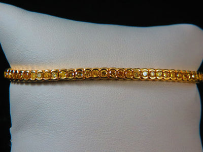18K Yellow Gold Diamond Tennis Bracelet