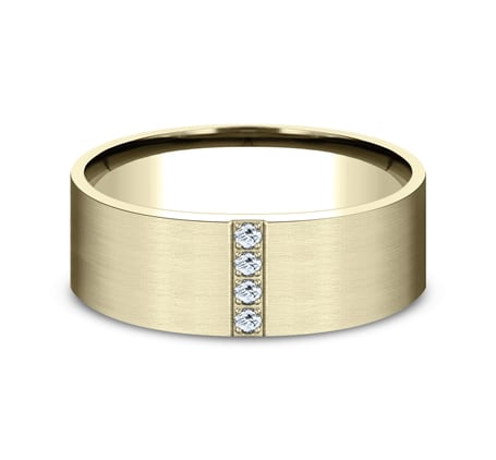 8mm Yellow Gold Satin-Finished Men's Wedding Band