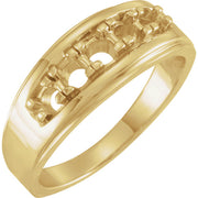 14K Yellow 3/4 CTW Diamond Men's Band
