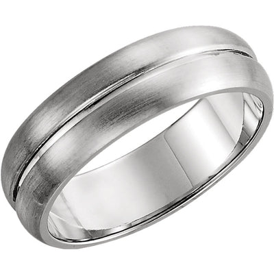 5 mm Grooved-Finish Wedding Band