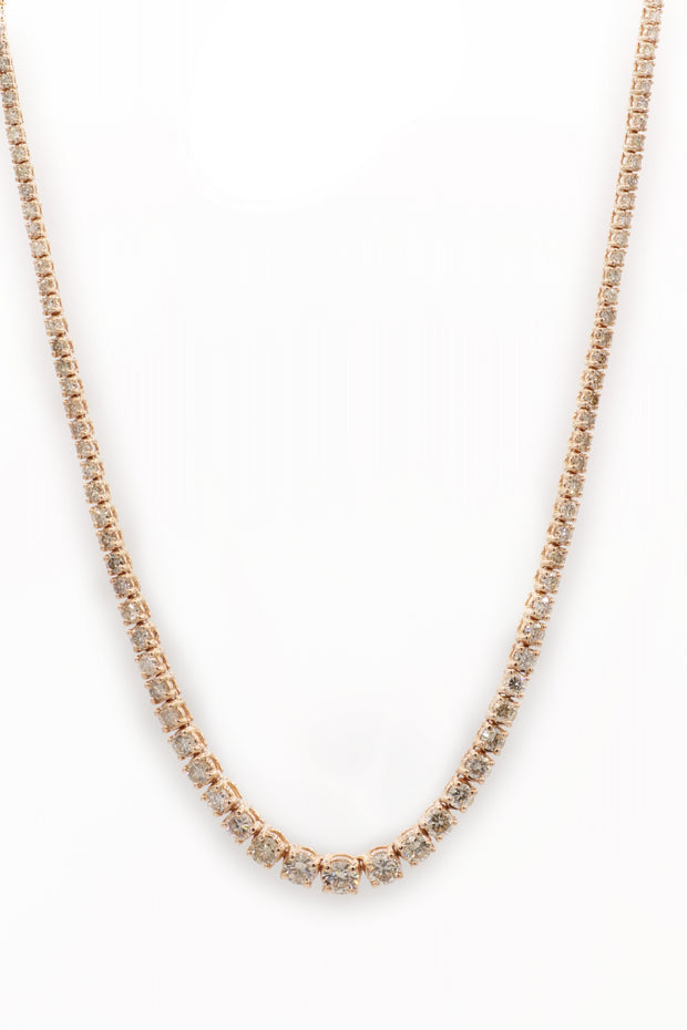 Round Diamond Yellow Gold Fashion Necklace