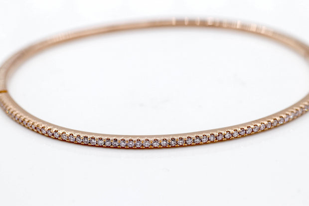 Rose Gold Pink Diamond Bangle