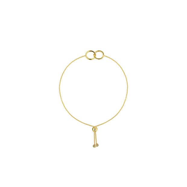 14K Gold Intertwined Circles Bracelet