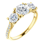 14K Gold 6.5mm Diamond Engagement Ring