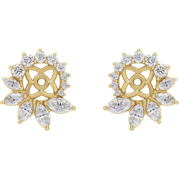 7/8 CTW Diamond Earring Jackets with 6 mm ID
