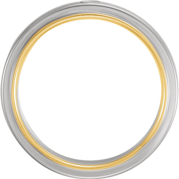 Platinum & 18K Yellow 6 mm Band Mounting
