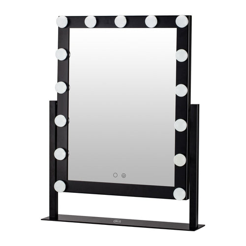 Lurella - 15 Bulb Vanity Mirror - Black