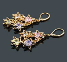 Load image into Gallery viewer, Earrings - Oro Laminado Stars Drop Earrings