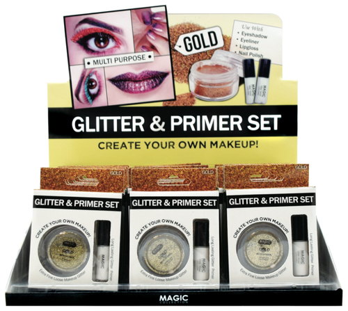 Magic Glitter primer set - gold