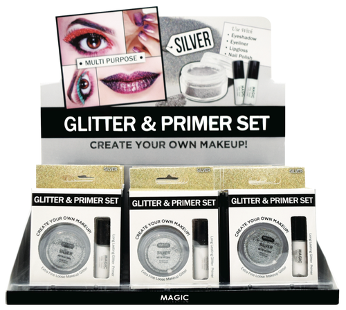Magic Glitter primer set - silver