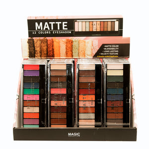 Magic 12 color eyeshadow - matte