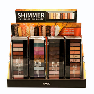 Magic 12 color eyeshadow - shimmer