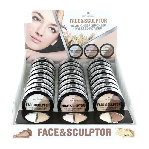 JK - Face Sculptor Highlighter & Bronzer Pressed Powder