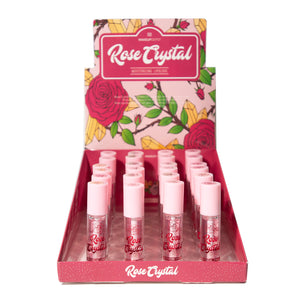 Rose Crystal Lipgloss with Rose Scent