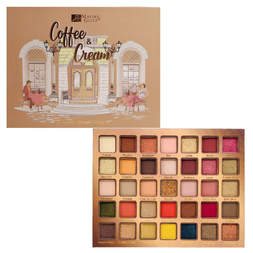 Malibu Glitz - Coffee & Cream 35 Color Beauty Palette
