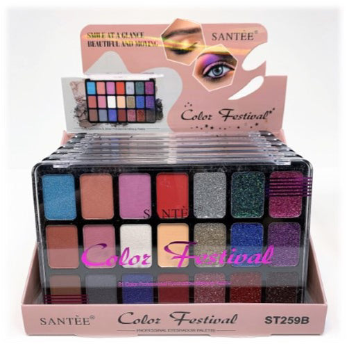 Santee - Color Festival - Professional Eyeshadow Makeup Palette