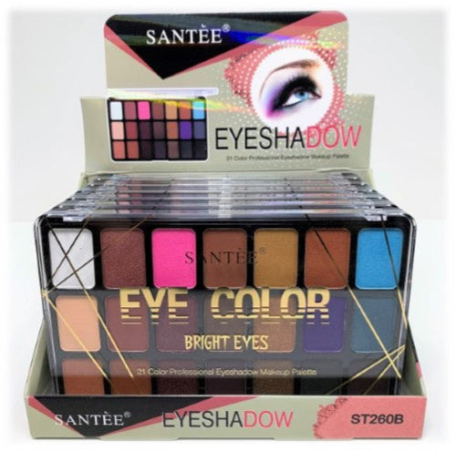 Santee - Bright Eyes - 21 Color Professional Eyeshadow Makeup Palette