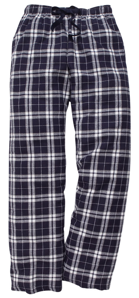 Adult Navy and Silver Flannel Pant*