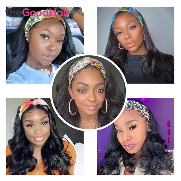 Body Wave Headband Wig Virgin Human Hair(Get Free Headband)