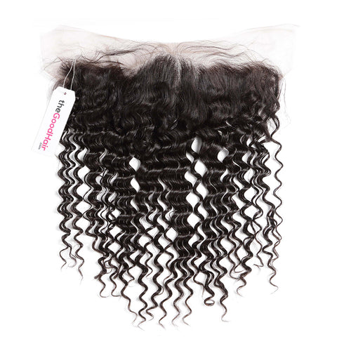 13x4 Lace frontal Human hair deep curly