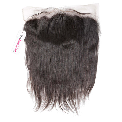13x4 Lace frontal Human hair straight