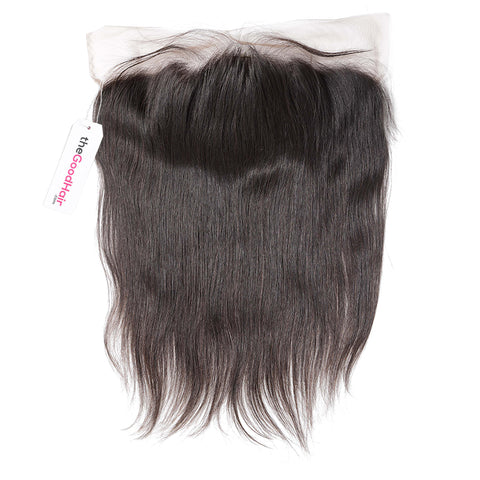 4X4 Lace Closure Brazilian Kinky Straight Middle Part 100% Human Remy Hair Bleached Knots with Baby hair