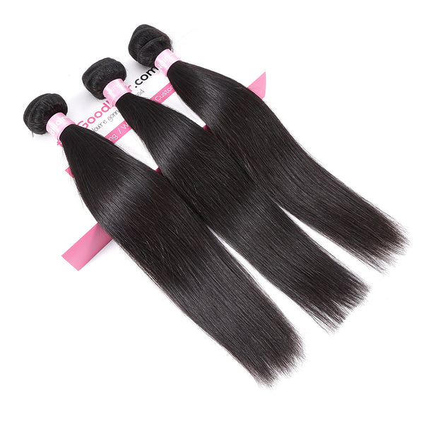 7A 3 Bundles Brazilian Hair With Frontal Straight