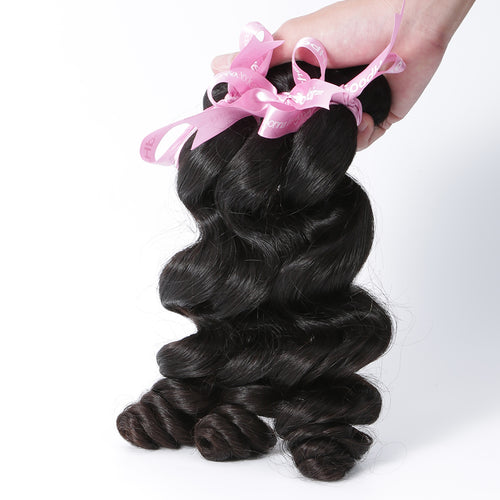 100% Human Virgin Hair Natural Loose Wave