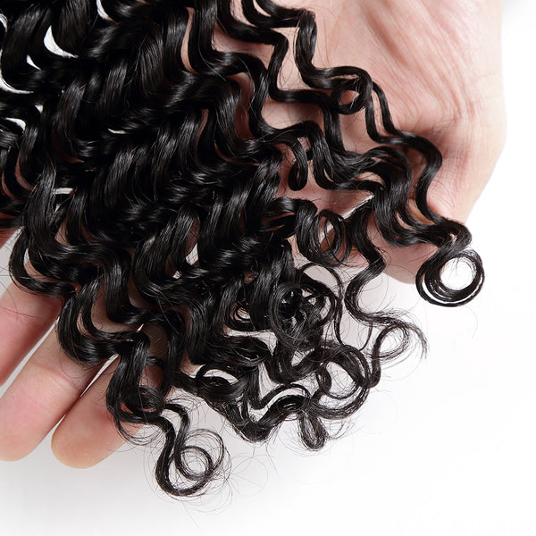 7A Hair Weave Peruvian Virgin Hair Deep Curly