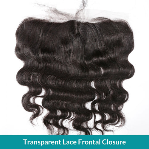 Transparent Lace Frontal Closure 13x4 Body Wave Pre plucked with Baby Hair