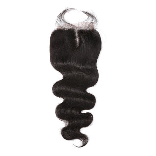 100% human hair lace closure body wave