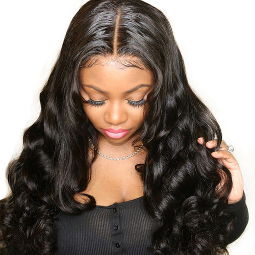 180% Density Breathable 360 Lace Wig Pre Plucked Body Wave