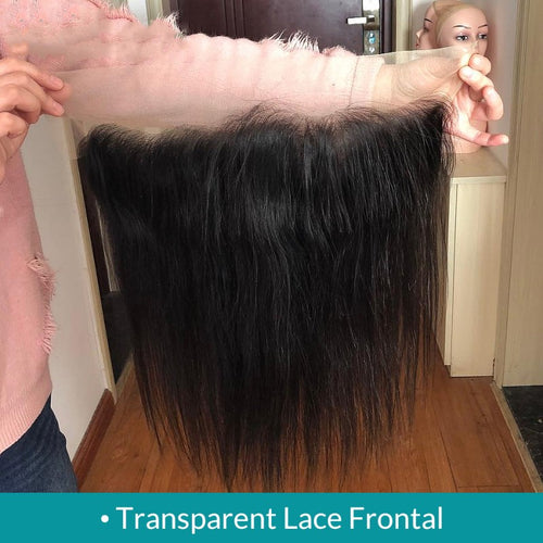 Transparent Lace Frontal Closure 13x4 Straight Pre plucked with Baby Hair