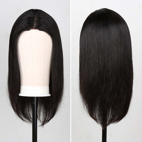 1x6 Bob Wig Lace Front Wig Straight Human Hair Silky Blunt Cut