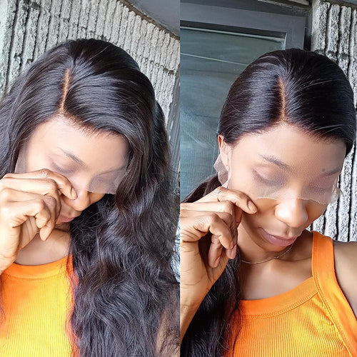 200% Density Pre Plucked Lace Front Wig 13x6 Lace Front Human Hair Pre-make Fake Scalp