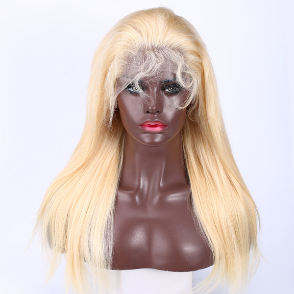 13x4 #613 Straight Blonde Hair Virgin Human Hair Lace Front Wig