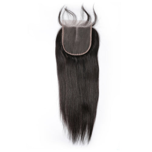 100% human hair lace closure straight