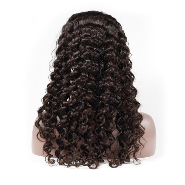 250% High density frontal lace wig pre plucked loose wave
